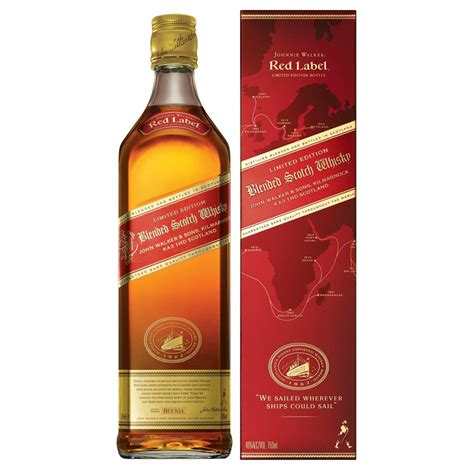 johnny walker colors imported label whisky from scotland