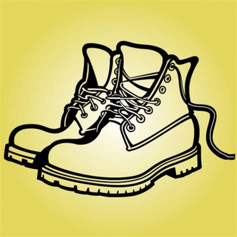 Black boots with untied laces Vector   Free Download