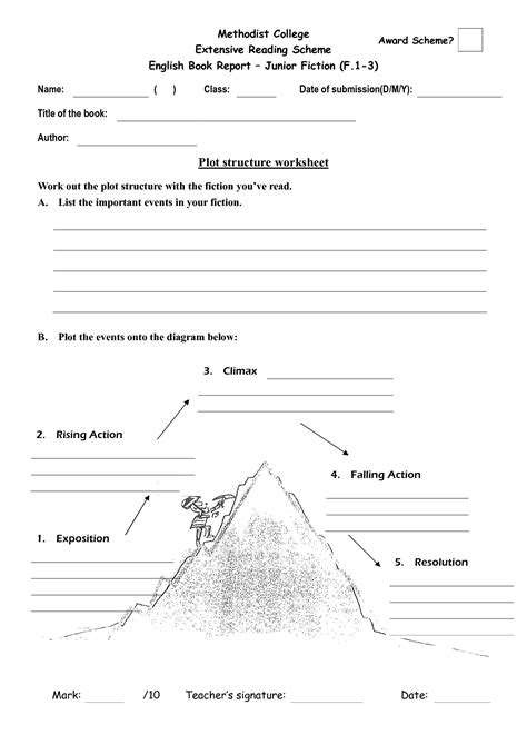 Plot Diagram Worksheet