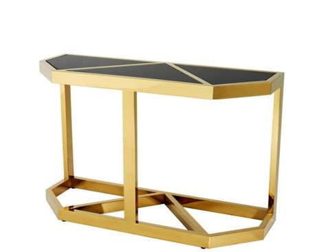 padrino console casa padrino luxury console table gold with black glass