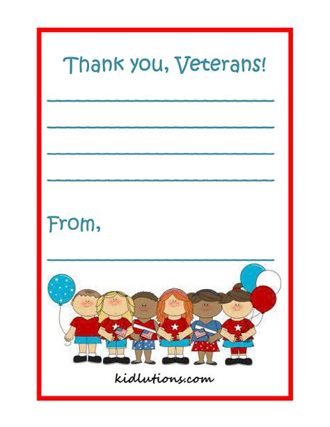 Thank You Letter Veterans Sles Veteran S Day Freebie And Sale At Kidlutions