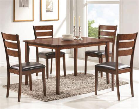 shasta  piece dining room set medium brown coaster