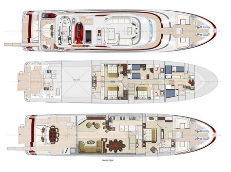 yacht floor plans cruising the ocean with style red pearl yacht ocean