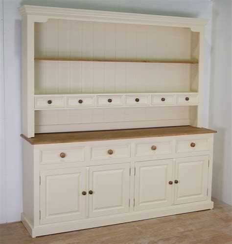 Antique Cream Kitchen Cabinets by Mottisfont Solid Pine Painted Large 96 Inch Welsh Dresser