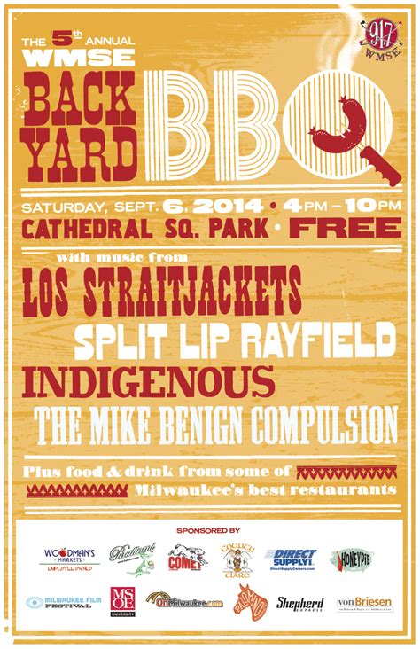 Wmse S 5th Annual Backyard Bbq Wmse 91 7fm