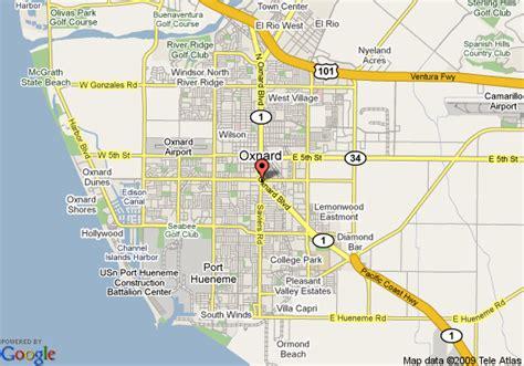 california map oxnard map of best western oxnard inn oxnard