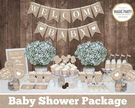 Baby Shower Decorations by Rustic Baby Shower Decorations Printable Gender Neutral Baby
