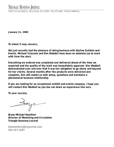 Personal Letters Of Appreciation for good services