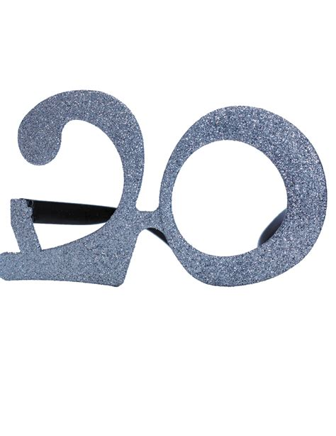 occhiali con occhiali 20 anni con paillettes per adulto vegaoo it