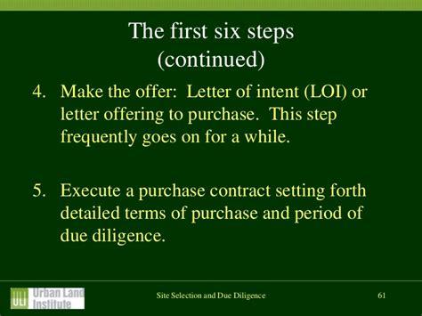 Letter Of Intent Due Diligence fundamental skills for real estate development
