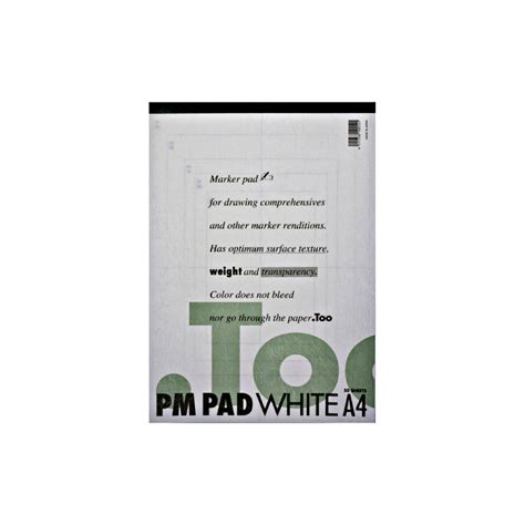 Copic Pm Pad White A4 By Dreamshop buy copic marker pm pad white a4 50sh