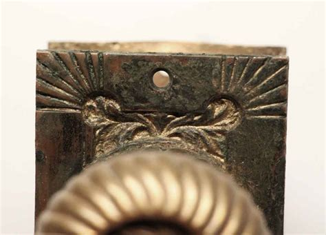 And The Beast Door Knob For Sale by Antique Corbin Bronze Fanciful Beast Knob Plate Set