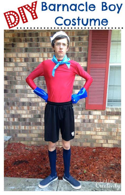 easy diy homemade spongebob barnacle boy costume