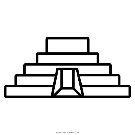 imagenes mayas para dibujar dibujo de pir 225 mide maya para colorear ultra coloring pages