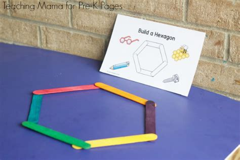 Sticks Card Template by Building Shapes With Craft Sticks Pre K Pages
