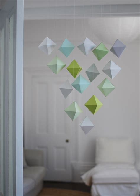 Paper Mobiles To Make - make a beautiful paper polyhedron mobile