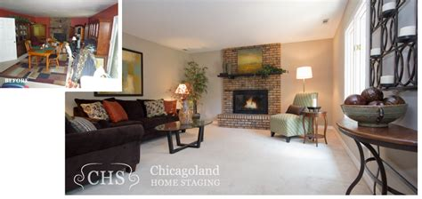 staging before and after occupied homes before and after pictures chicagoland home staging