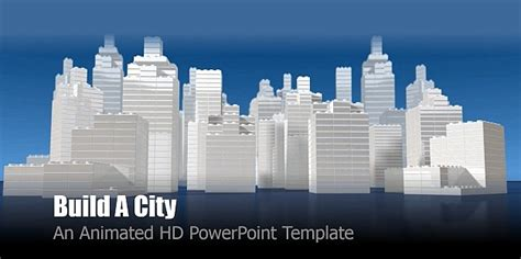 building a powerpoint template best animated city templates for powerpoint