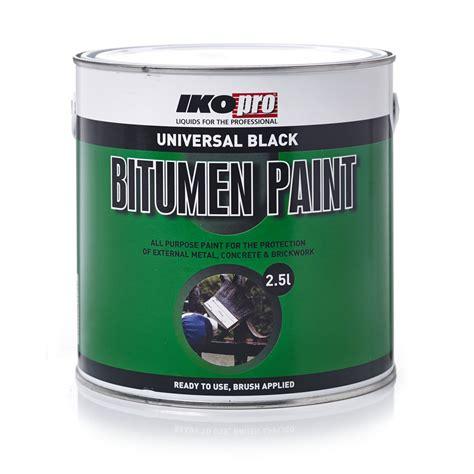 l black paint ikopro bitumen paint universal black 2 5l wilko