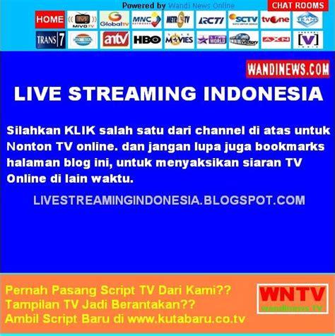 Tv Online Indonesia Nonton Gratis Tv Lokal   nonton tv online gratis