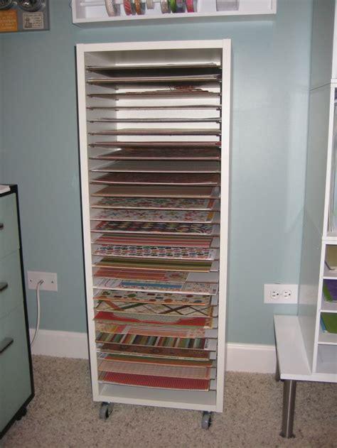 Shelf Paper Ideas by Scrapbook Paper Storage Scrapbook Storage Ideas