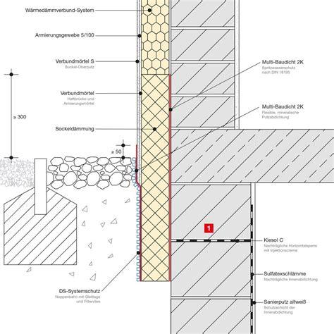 sockel zweischaliges mauerwerk einschaliges mauerwerk mit wdv system