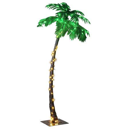 lightshare 7ft palm tree with 96 lights green led walmart