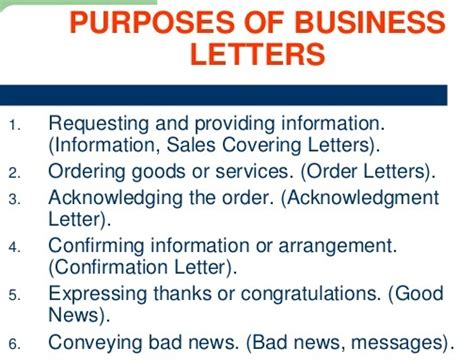 Business Letter Meaning And Purpose Purposes Of Business Letter