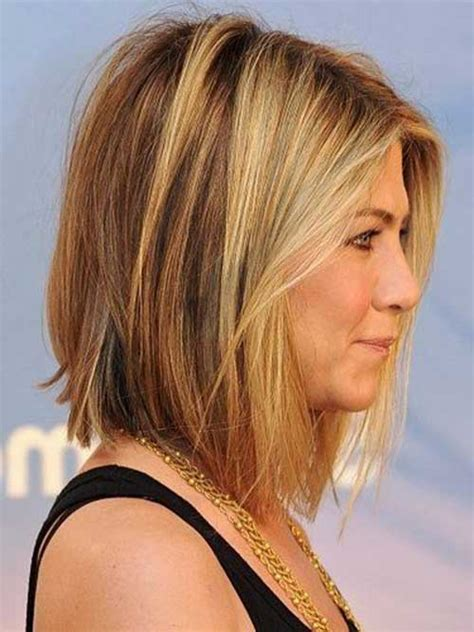 mid length hair cuts longer in front 10 jennifer aniston bob haircuts short hairstyles 2017