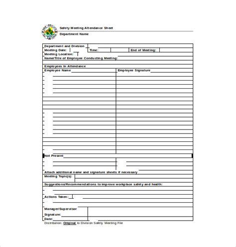 format absen safety talk 14 attendance sheet templates free word excel pdf