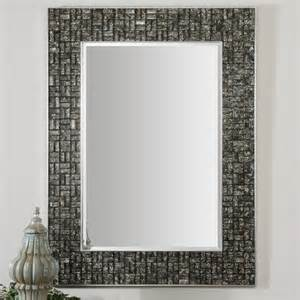 bathroom mirror tiles 30 ideas of mosaic tile framed bathroom mirrors