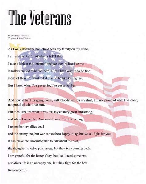 veterans day thank you poems veterans day 2015 poems top 10 best to say thank you to