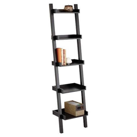 narrow leaning bookcase java linea narrow leaning bookcase the container store