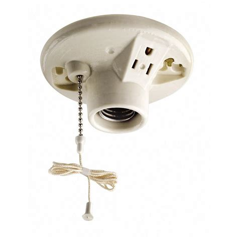 Light Fixture With Electrical Outlet Electrical Is It Safe To An Attic Light Receptacle On 60a Hvac Circuit Home