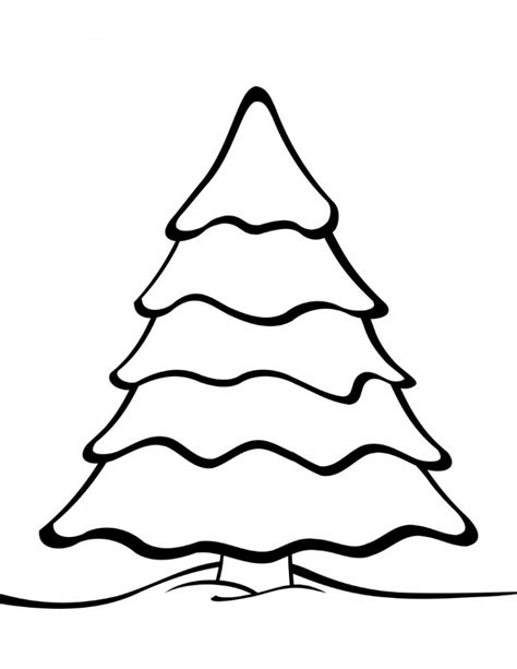 holiday templates for pages free printable christmas tree coloring page