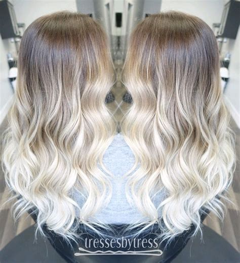 from platinum blonde to ombre platinum blonde ombr 233 balayage ombre balayage
