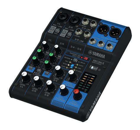 Mixer Karaoke Yamaha yamaha mg06x 6 channel mixing console w effects