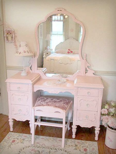 beautiful antique vanity with mirror and bench home decor pinterest beautiful cottage
