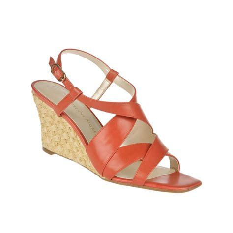 aigner sandals etienne aigner ashton wedge sandals in orange coral