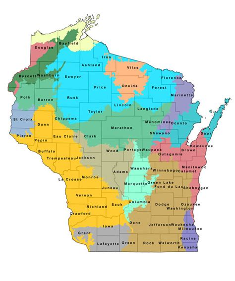 wisconsin counties map images