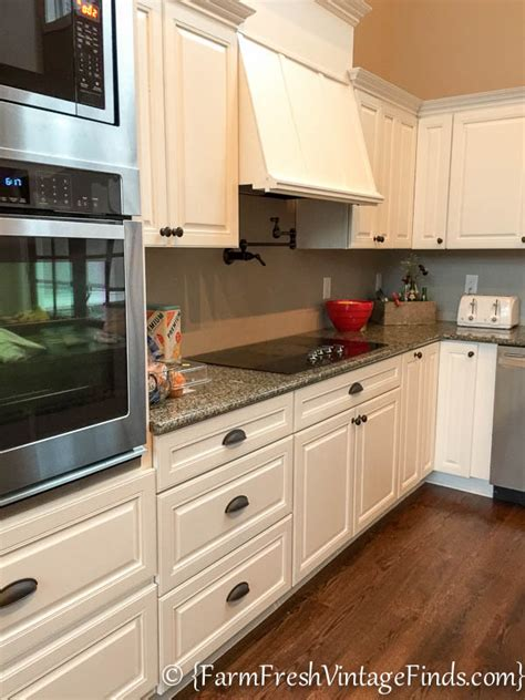 custom painted kitchen cabinets client custom kitchen on a builder grade budget part 2