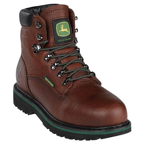 mens steel toed boots s deere 6 quot steel toe waterproof boots brown