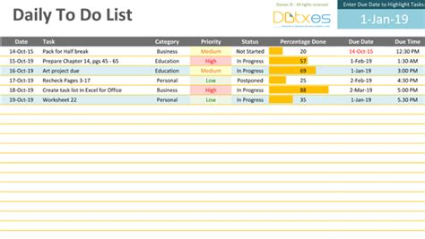 things to do list template excel to do list excel template free to do list
