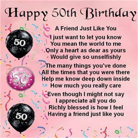 Best Friend 50th Birthday Card Personalised Coaster Friend Poem Female 50th