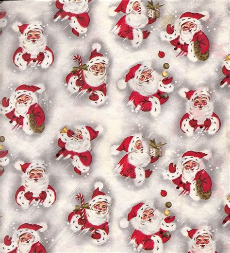free printable vintage wrapping paper vintage christmas wrapping paper with santas love the