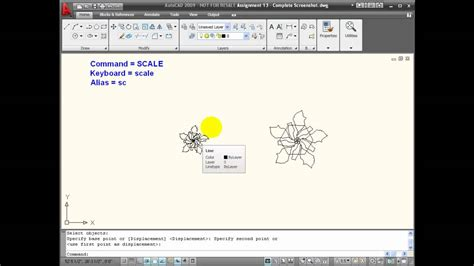 autocad tutorial with commands autocad tutorials using the scale command youtube