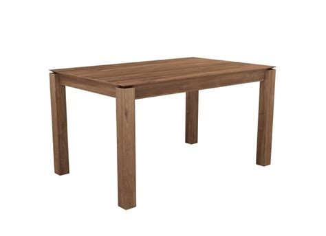 teak slice extendable dining table 140 220x90x76 cm