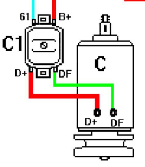 kabelbezeichnungen tabelle gleichstrom lichtmaschine
