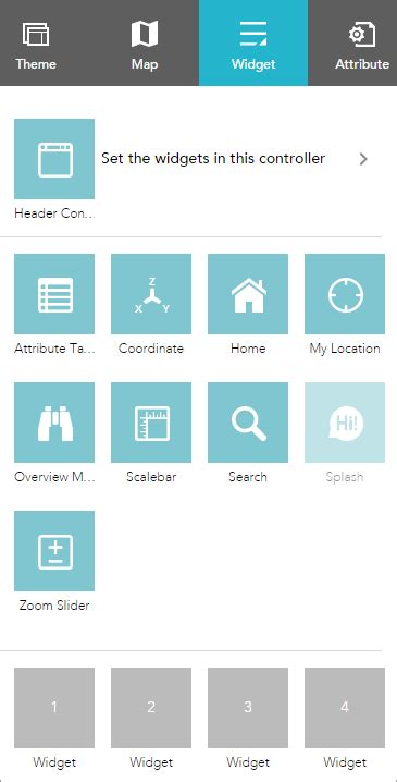 layout builder widget area 1 widget web appbuilder for arcgis arcgis
