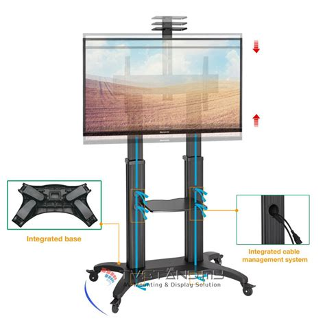 portable aluminum tv stand led lcd plasma mount upto